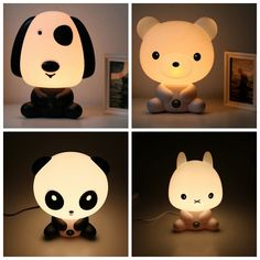 HOT Baby Room Cartoon Bear Night Sleeping Light Kids Bed Lamp incandescent Night Sleeping Lamp Best for Gifts EU/US Plug