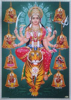 Navratri Puja will help you overcome all your negativities. Flourish with wealth on this Navratri by offering Homam to Lakshmi, Saraswathi & Durga. Hanuman Images, Durga Images, Lakshmi Images, Lord Durga, Durga Maa, Durga Goddess, Navratri Puja, Happy Navratri Images, Avatar Poster