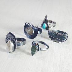 Silver and gemstone rings / Annika Kaplan