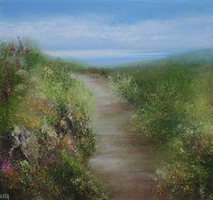 British Artist Amanda HOSKIN-Summer Path, Zennor
