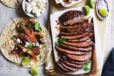 Steak with coriander and chargrilled mushroom chimichurri