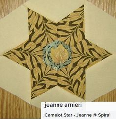 Spiral: Morris Hexathon Block 3 by Jeanne