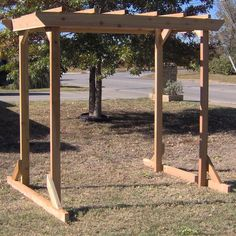 TMP Outdoor Furniture Large Cedar Pergola Arbor Swing Frame  Could this be made long enough to give shade on front picture window and then have swing?