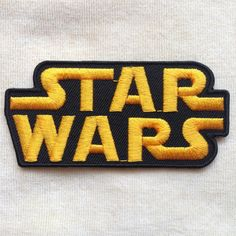 Star Wars Iron On Patch Black by PandaSevenShop on Etsy