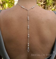 Stunning Backless Dress Necklace Lariat made with by BridalDeVine