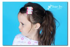 these ruffled hairclips are the perfect project for a beginner sewer who wants to learn how to ruffle! : these ruffled hairclips are the perfect project for a beginner sewer who wants to learn how to ruffle! Sewing Hacks, Sewing Tutorials, Sewing Crafts, Sewing Tips, Bee Crafts, Crafts To Sell, Diy And Crafts, Little Girl Hairstyles, Cool Hairstyles