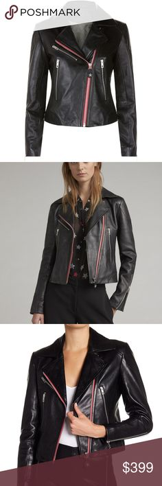 0ba7f44f9b2 Rag and Bone Griffin Leather Jacket Detail -New with Tag Exposed zippers  add extra