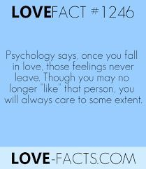 """LOVE FACT says, once you fall in love, those feelings never leave. Though you may no longer """"like"""" that person, you will always care to some extent Psychology Facts About Love, Psychology Says, Psychology Quotes, Love Facts About Guys, Crush Quotes, Life Quotes, Reality Quotes, Relationship Posts, Relationships"""