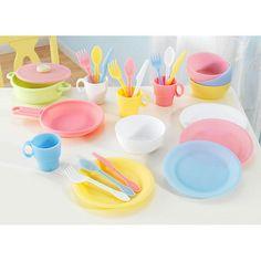 Kidkraft Kitchen Accessories kidkraft pastel kitchen accessories 4-pack play set~~this is the 4