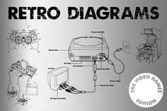 Retro Vector Diagrams - 32 Items by Offset on @creativemarket