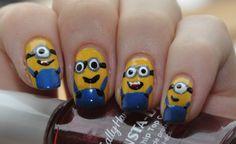 The Minions! :D  Nicht nur im Kino- auch auf meinen Nägeln :)  http://favoritenails.blogspot.de/2013/07/the-minios-nagel-passend-zum-film.html