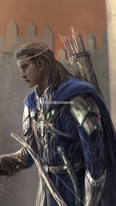 Duilin and Egalmoth ( Cropped for detail) by Loveboro… Elves Fantasy, Fantasy Male, Fantasy Warrior, Medieval Fantasy, Elf Characters, Fantasy Characters, Fantasy Inspiration, Character Inspiration, Character Portraits