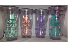 Teacher Gift - Keep Calm and Pretend It's on the Lesson Plan Tumbler - 16 oz Double Wall Personalized Cup - Perfect Custom Christmas Gift on Etsy, $15.00