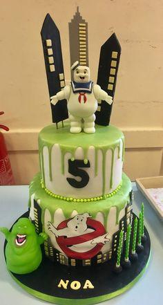 Ghostbusters cake. Noa 5 Ghostbusters Cake, Ghostbusters Birthday Party, 5th Birthday, Birthday Parties, Birthday Cakes, Birthday Ideas, Joshua 5, Small Cake, Birthdays
