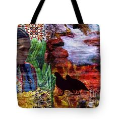 #Southwest #Tote #Bag  by Judi Saunders