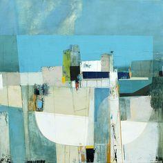 "A Moments Light by Andrew Bird | Acrylic on canvas | 30"" x 30"" #andrewbird #tannerandlawson #cornwall #abstractart"