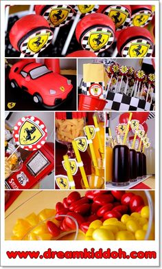ferrari party Birthday Party At Home, Race Car Birthday, Race Car Party, 10th Birthday Parties, Birthday Party Themes, Birthday Ideas, 20s Party, Party Kit, Party Ideas