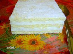 Prajitura Alba Romanian Desserts, Romanian Food, Romanian Recipes, Sweet Tarts, Cake Cookies, Just Desserts, Vanilla Cake, Fondant, Cake Decorating