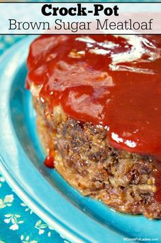 Crock-Pot Brown Sugar Meatloaf - This recipe for Crock-Pot Brown Sugar Meatloaf is a family favorite full of delicious flavor with just a touch of sweetness from a little brown sugar. Bonus points because it can be made into a slow cooker freezer meal! [Low Fat] #CrockPotLadies #CrockPot #SlowCooker #Meatloaf #FreezerMeals