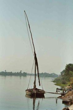 Felucca on the Nile   Felouque sur le Nil   Faluca en el Nilo