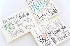 Hello I love you thank you cards     #simplexserene #simple #serene #iloveyou #hello #thankyou #card