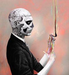 #inspiration #illustration Portrait Rick Genest by Miguel Ángel Avila, via Flickr