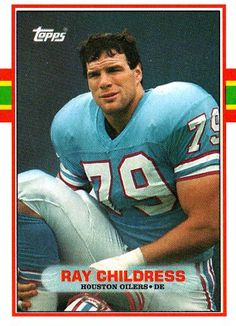 Ray Childress 1985 football card | ... - Ray Childress #101 TOPPS 1989 NFL American Football Trading Card