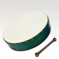 Irish Bodhran Green Pretuned Cross Bar by Muzikhaus Berlin
