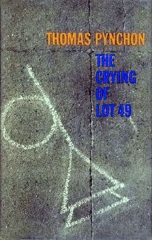 Lot49. The Crying of Lot 49 is a novella by Thomas Pynchon, first published in 1966. The shortest of Pynchon's novels, it is about a woman, Oedipa Maas, possibly unearthing the centuries-old conflict between two maildistribution companies, Thurn und Taxis and the Trystero (or Tristero). The former actually existed and was the first firm to distribute postal mail; the latter is Pynchon's invention. The novel is often classified as a notable example of postmodern fiction.