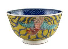 Beautiful-18thC-Chinese-Famille-Rose-Porcelain-Bowl-w-Phoenix