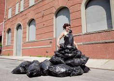 15 Inventive Dresses Made from Recycled Materials | Brit + Co.