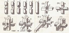 6 Piece Wood Block Puzzle Solution If someone desire to learn woodworking skills, try out http://www.woodesigner.net