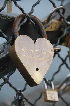 locks of love on the bridge in Paris