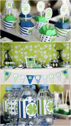 St Patrick's Day table decorations and green food party ideas