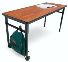 Quattro Three-Student Classroom Desk with Casters Glide/Caster Combo by Bretford. $273.99. Quattro Student Classroom Desks available in a variety of sizes to support classroom activities and curriculum Built in book bag hooks keep backpacks and other bags off the floor and out of the way Height adjustable work surface allows you to set up your classroom for children or adults Adjusts in one inch increments from 24'' to a 32'' 3'' Twin Casters on one side allow th...