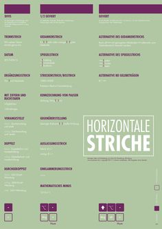 Typographie Striche