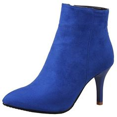 Women's Fashion Stiletto High Heel Ankle Boots >>> You can get more details by clicking on the image. (This is an affiliate link) #AnkleBootie
