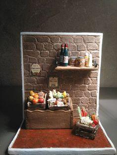 Mini épicerie de campagne  Epicerie miniature Bar Cart, Miniatures, Etsy, Home Decor, Fruits And Veggies, Canning, Rural Area, Fimo, Decoration Home