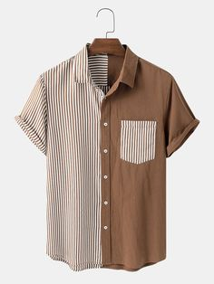 Teen Fashion Outfits, Cool Outfits, Casual Outfits, Stylish Shirts, Casual Shirts, Camisa Vintage, Chemise Fashion, Jugend Mode Outfits, Mens Designer Shirts