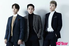 Youngjae, Himchan, Zelo (B.A.P) Magazine November Issue Bap Zelo, Himchan, Youngjae, Always Remember Me, Star Magazine, Perfect Man, Boy Groups, We Heart It, Suit Jacket