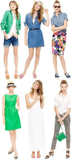 Jcrew Summer These are cute...except for the leopard pants...no thanks!