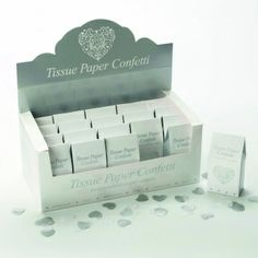 Beautiful silver and white heart throwing confetti now available. £0.99 per carton, or £ 14.99 on multi-buy.