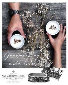 Buongiorno amici... un pensiero romantico per questa Domenica con King & Queen <3 shop.mariacristinasterling.it