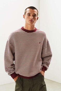 9542b90344ced Slide View: 1: FairPlay Stripe Crew Neck Sweatshirt New Man Clothing,  Hoodies,