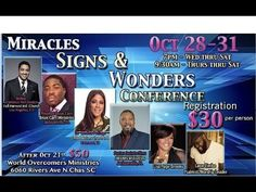 Prophet Brian Carn 10-30-15 Miracle Signs & Wonders Conference SC World ...