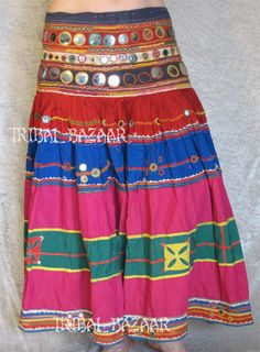 #Banjara #skirt - /dorchan/craft-shisha-embroidery/    333 BACK