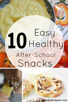 Are you stuck in a rut when it comes to after school snacks? Try these 10 easy, healthy snacks your kids are sure to love!