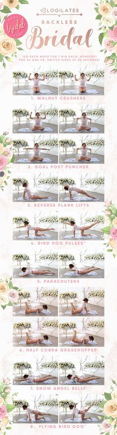 Bride workout routines to get into your best shape for the wedding! Find the best bride workout plan at home for your wedding at Blogilates. Toning Workouts, Pilates Workout, Easy Workouts, At Home Workouts, Back Toning, Blogilates, Sweat It Out, Back Exercises, We The Best