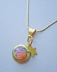 Image of Galaxy Quest Opal Nebula Locket