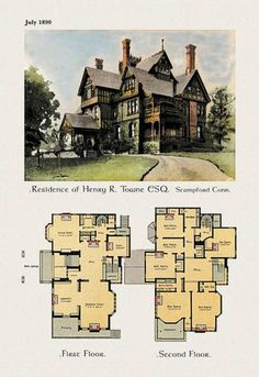 Residence of Henry R. Towne Esq. 24x36 Giclee
